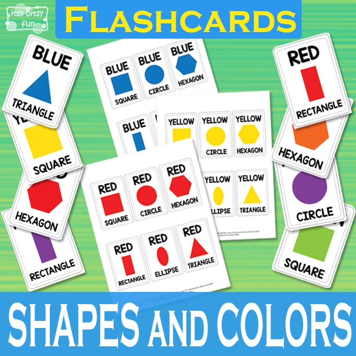 Shapes and Colors Flashcards