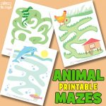 Printable Animal Mazes for Kids