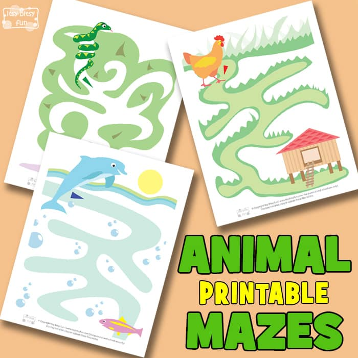 Animal Mazes for Kids