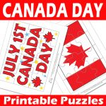 Canada Day Printable Puzzles for Kids