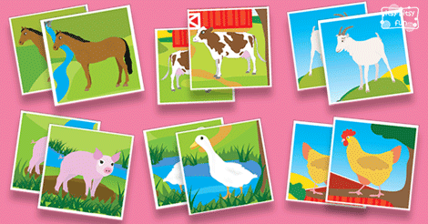 Printable Farm Animals Memory Game Itsy Bitsy Fun