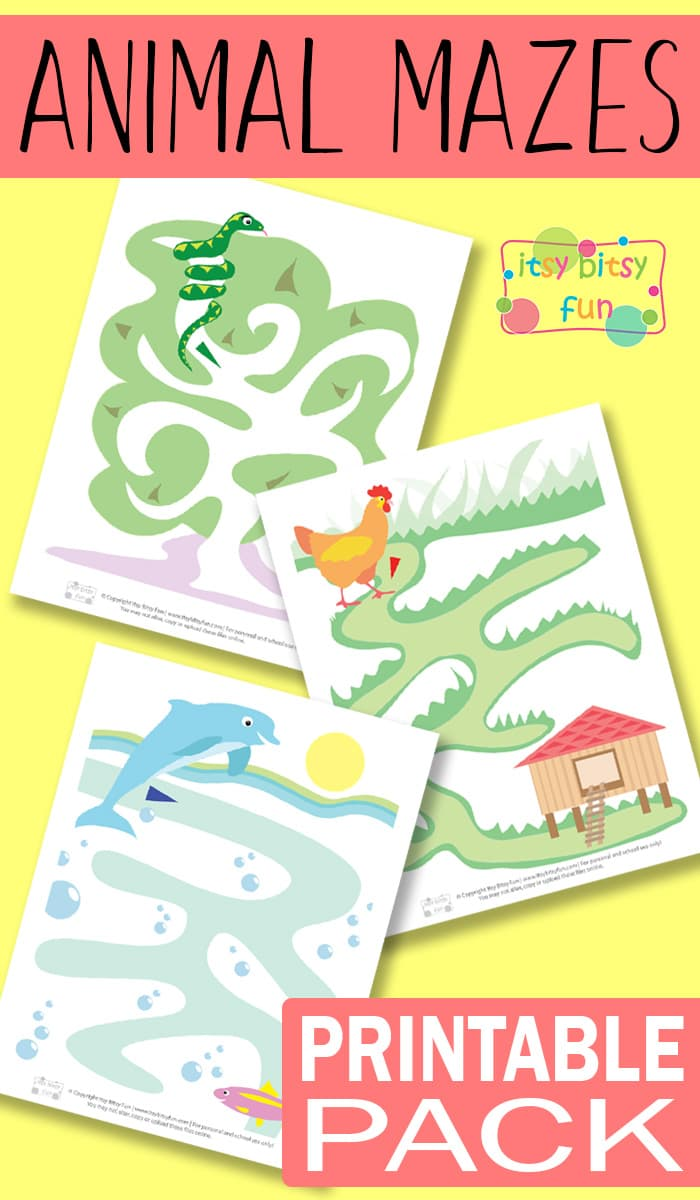 Printable Animal Mazes for Kids - Itsy Bitsy Fun