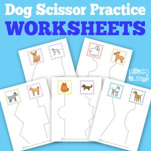 Free Printable Dog Scissor Practice Worksheets