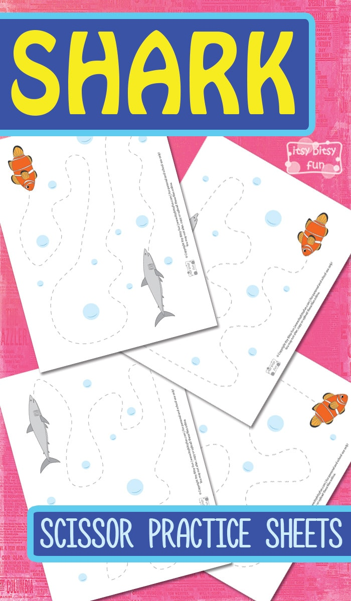 Free Printable Shark Scissor Practice Sheetsl