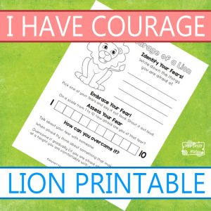 I Have Courage - Lion Printable Page
