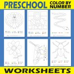 Preschool Color by Number Worksheets
