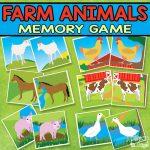 Printable Farm Animals Memory Game