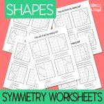 Shapes Symmetry Worksheets