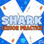 Shark Scissor Practice Sheets for Kids