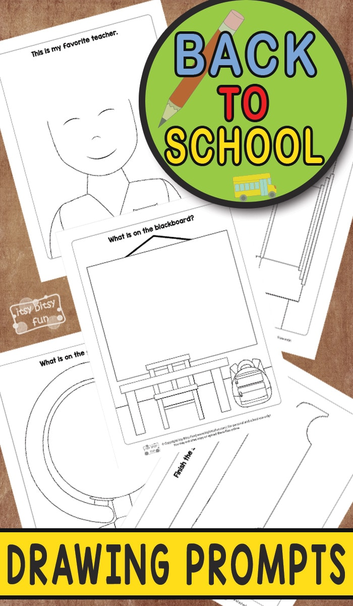 Back to School - Drawing Prompts