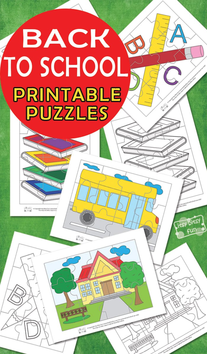 Back to School Printable Puzzles