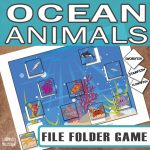 Printable Ocean Animals File Folder Game
