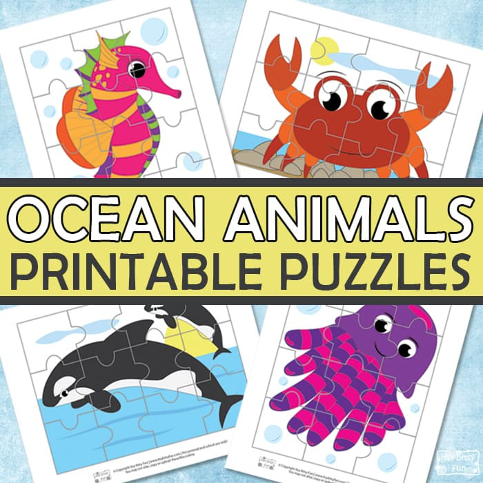 photograph relating to Printable Ocean Animals referred to as Ocean Pets Printable Puzzles for Little ones - Itsy Bitsy Enjoyment