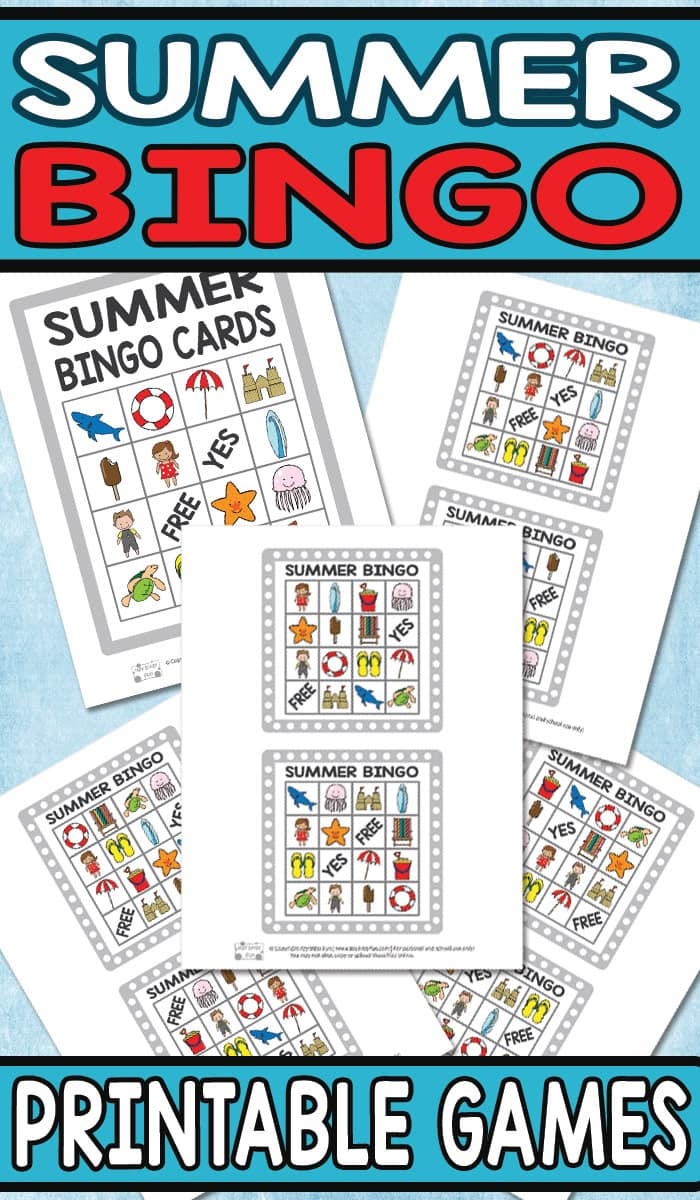 Free Printable Summer BINGO Game for Kids