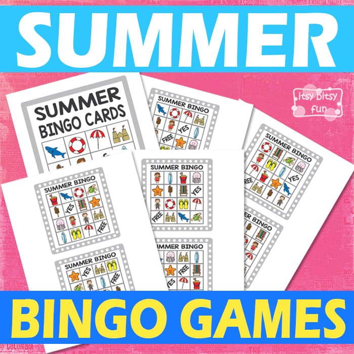 picture relating to Printable Bingo for Kids named Printable Summer months Bingo Match for Little ones - Itsy Bitsy Exciting