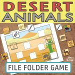 Printable Desert Animals File Folder Game