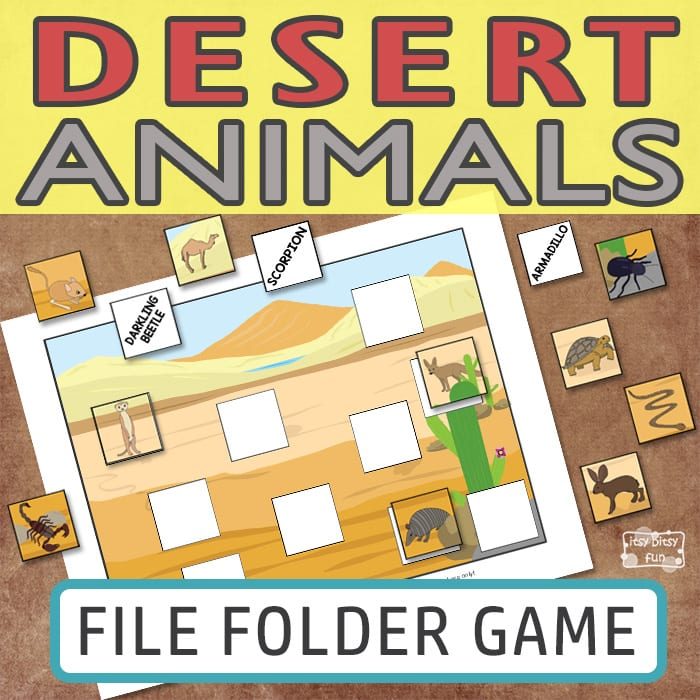 Desert Animals of the World File Folder Game