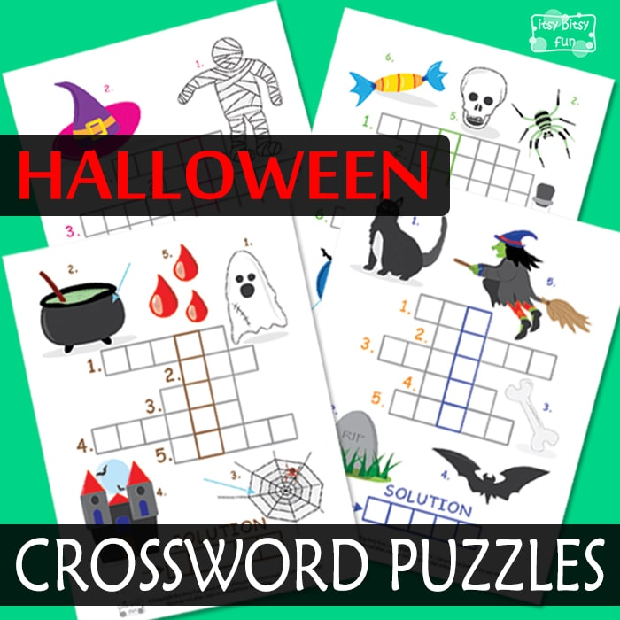 Halloween Celebration Crossword Puzzles