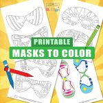 Halloween Masks for Kids – to color