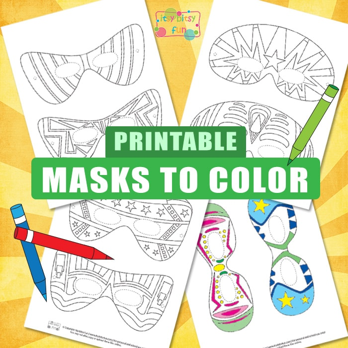 Cool Printable Masks Coloring Pages