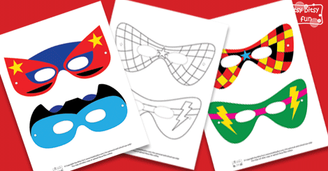 photograph relating to Printable Superhero Masks titled Superhero Mask Template - Itsy Bitsy Enjoyment