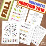 Fall Addition Worksheets to 10