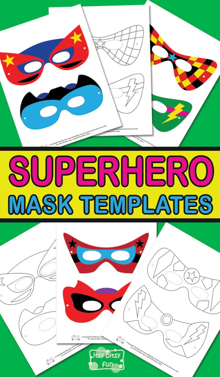 graphic relating to Printable Superhero Mask identified as Superhero Mask Template - Itsy Bitsy Enjoyable