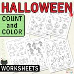 Halloween Count and Color Worksheets
