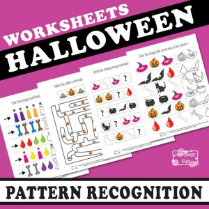 Halloween Pattern Recognition Worksheets