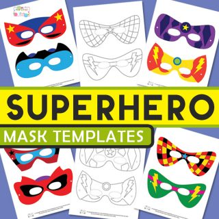 Itsy bitsy fun free worksheets coloring pages and more for Superhero mask template for kids