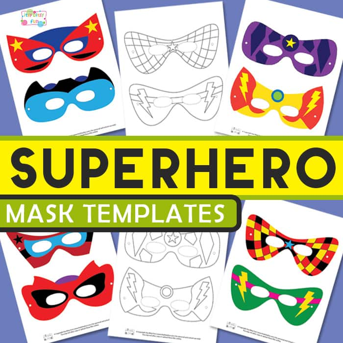 Superhero Mask Template  Itsy Bitsy Fun