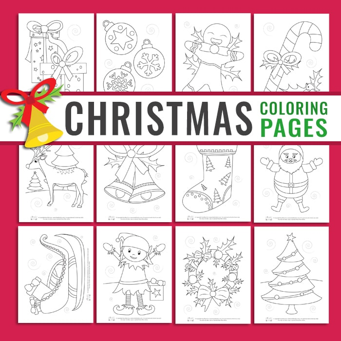12 Christmas Pages to Color