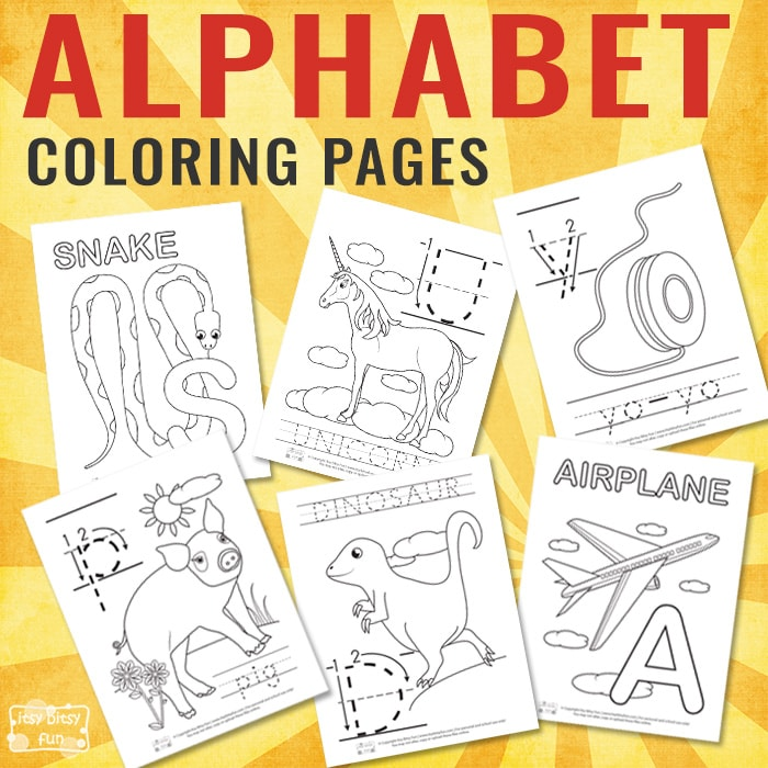 Alphabet Tracing Worksheets Archives - Itsybitsyfun.com