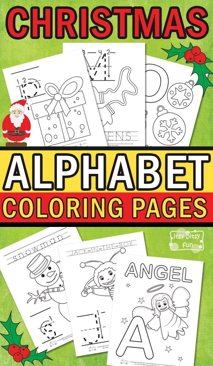 Christmas Alphabet Coloring Pages - Itsy Bitsy Fun