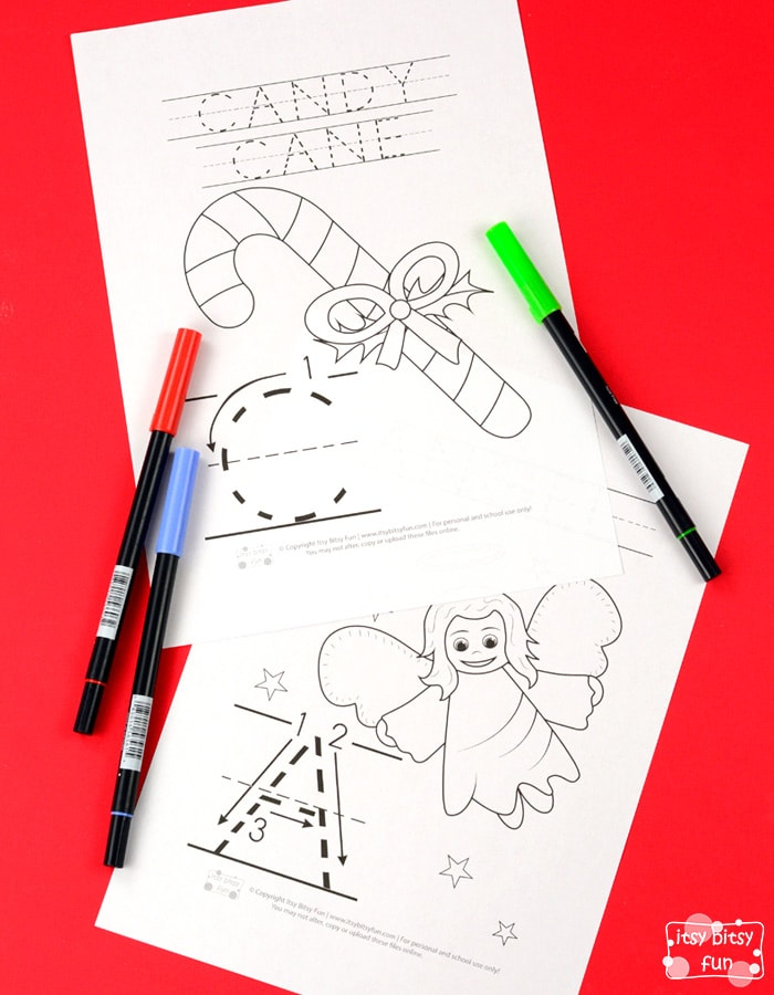 Christmas Alphabet Coloring Pages for Kids to Color