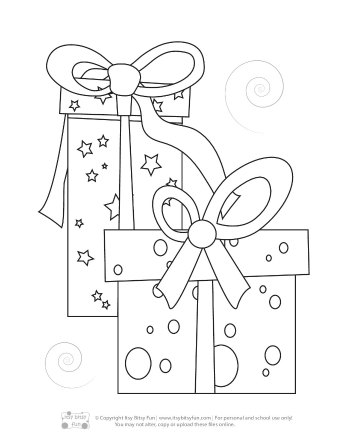 A Christmas Gifts Coloring Page