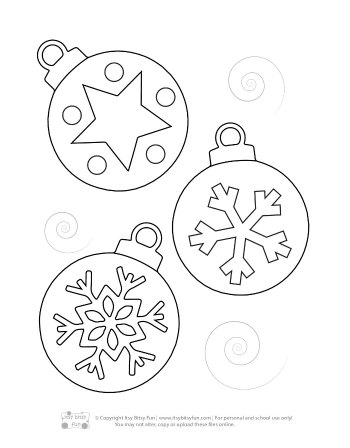 A Christmas Baubles Coloring Page