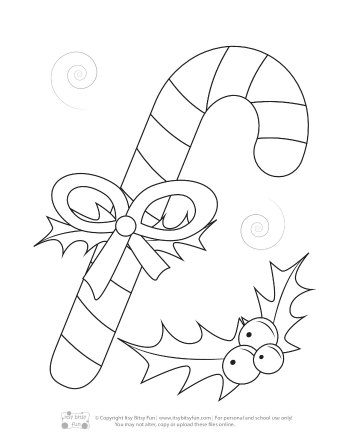 A Christmas Candy Came Coloring Page