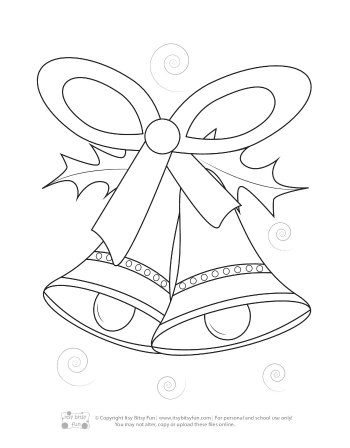 A Christmas Bells Coloring Page