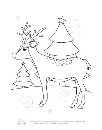 a deer coloring page