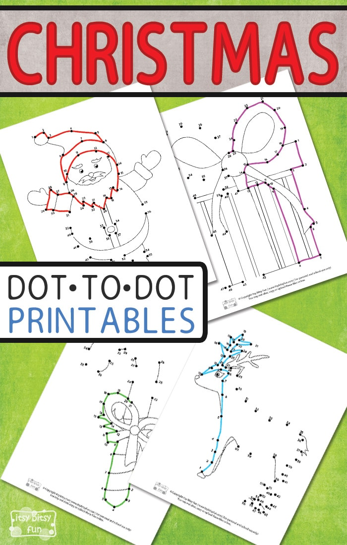 Free Printable Christmas Connect the Dots Worksheets for Kids