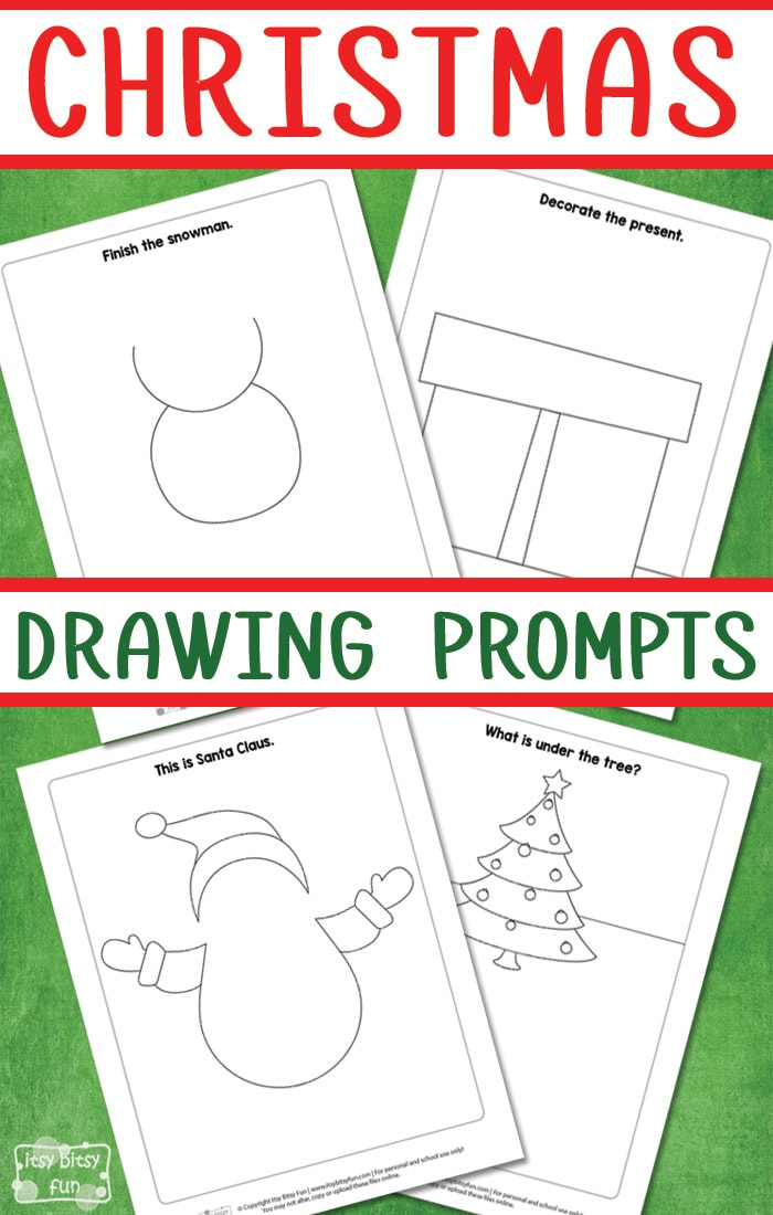 Free Printable Christmas Drawing Prompts for Kids