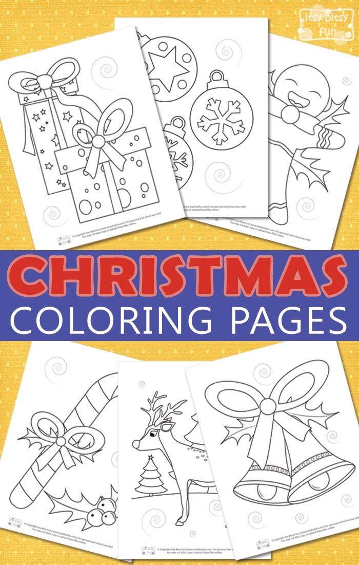 Christmas Free Printable Coloring Pages for Kids. Fun Christmas activity for kids to keep them entertained and busy. #freeprintablesforkids #coloringpages #christmasprintableforkids