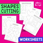 Cutting Shapes Worksheets
