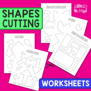 Fun Shapes Cutting Worksheets