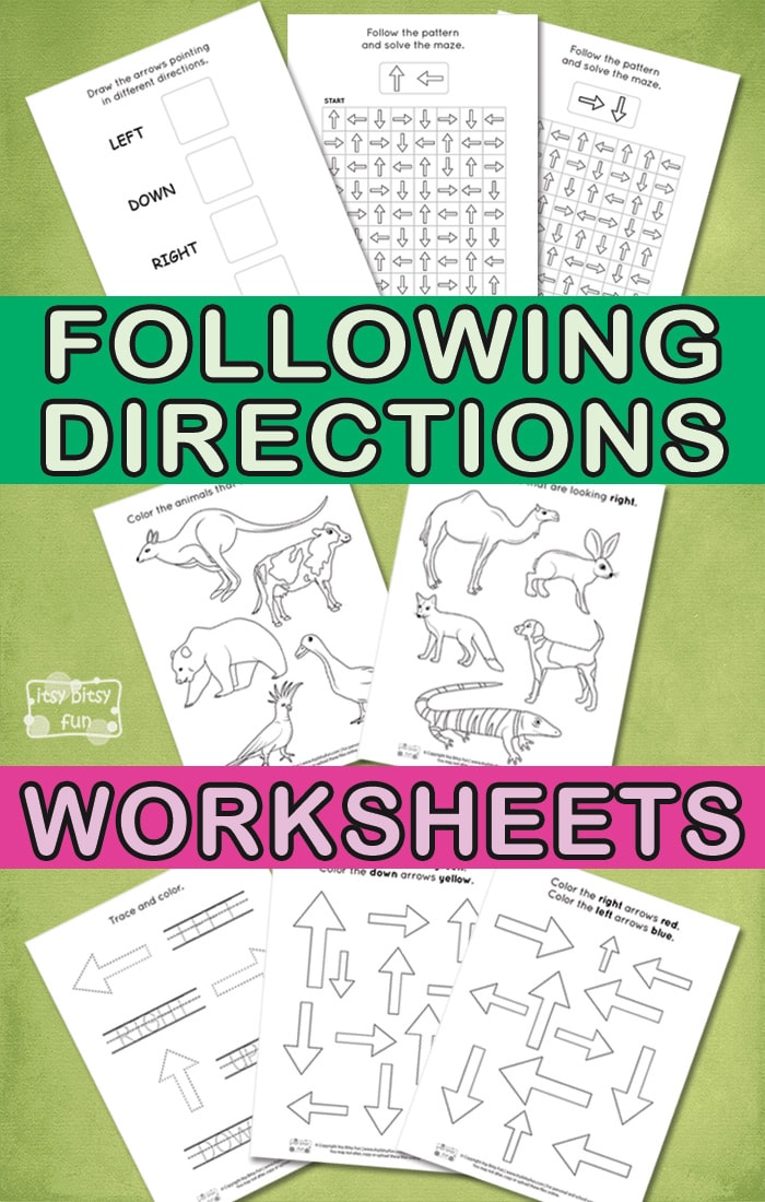 Learn Following Directions - Free Printable Worksheets for Kids