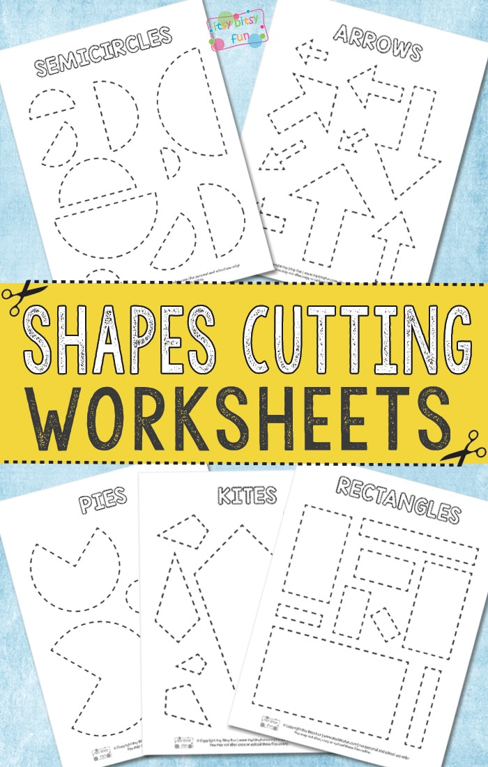 photo regarding Printable Shapes Worksheets named Chopping Designs Worksheets - Itsy Bitsy Exciting