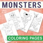 Spooky Monsters Coloring Pages