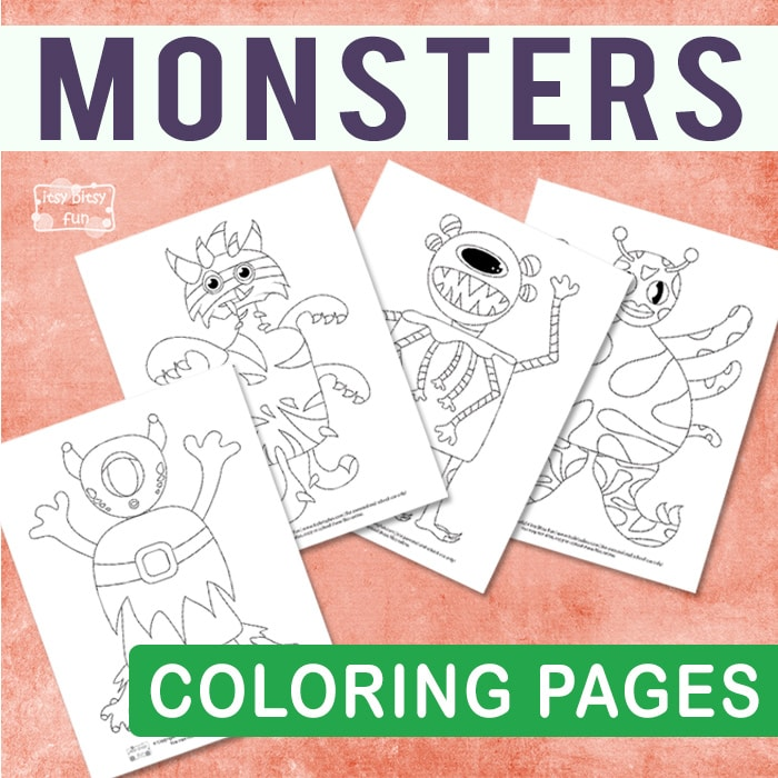Monsters Halloween Coloring Pages For Kids