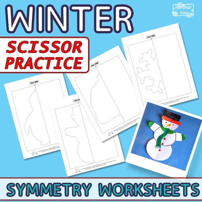 Snowflake Cutting Practice Worksheet Kindergarten on Bird Preschool Scissor Cutting Worksheets